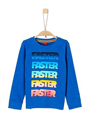 s.Oliver Jungen Regular Fit Sweatshirt 63.902.41.3244, Einfarbig, Gr. 128 (Herstellergröße: 128/134/REG), Blau (Blue 5526)