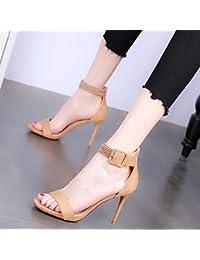 YMFIE Primavera, estate e autunno rosso sexy stiletto a punta temperamento tacco alto scarpe da lavoro da donna...