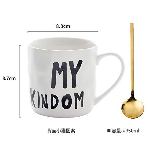Mugs Tasses Tasse À Café en Porcelaine Empilable Tasses À Café Blanches De 400 ML Tasses À Thé Verres À Boire Drinkware Cuisine Dining, C