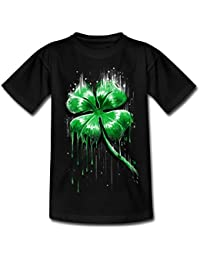 Spreadshirt ST Patrick's Day Melting Four Leaf Clover Teenage T-Shirt