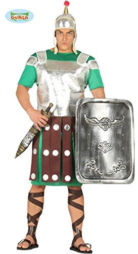 Römischer Legionär Soldat Karneval Party Motto Kostüm für Herren Silber Gr. M - L , Größe:L