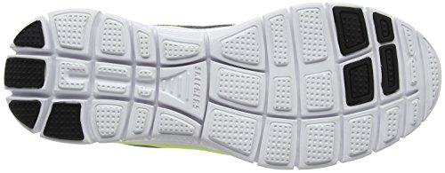 Skechers Flex Advantage- Scarpe sportive Uomo (Charcoal/Lime)