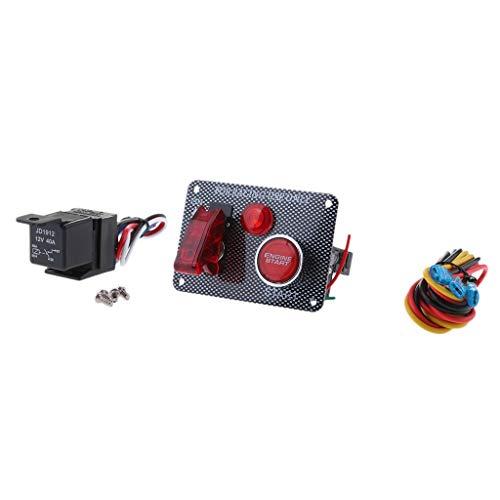 Homyl 1 x Schalttafel Zündschloss Waterproof Wippschalter Panel Auto Marine Boat Circuit Breaker -
