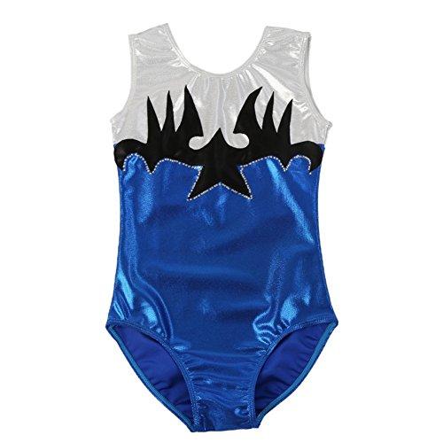 Blaward Bambina Body da Danza Classica Halloween Costume per Bambini con Modello di Pipistrello Senza Maniche Costumi di Danza per Ragazze