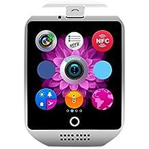 Gazechimp Q18 Montre Connectée Bluetooth GPS Appel Anti-perte Surveillance du Sommeil Bracelet Sport pour Smartphone IOS Android - Blanc
