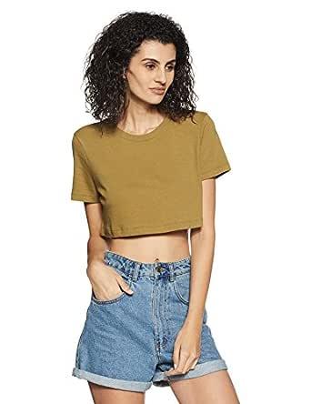 Forever 21 Women's Plain Regular Fit Cotton Shirt