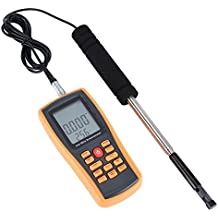 Anemómetro Digital LCD Portátil Digital Calor del Viento Velocidad del Viento Calibrador de la Temperatura Anemómetro