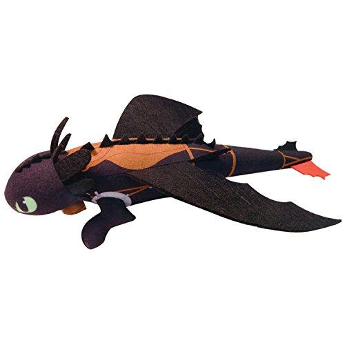 Dragons- DreamWorks Peluche Volante Stentato, 35 cm, 6024156