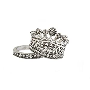 S.A.V.I Luxury Crown Ring Set
