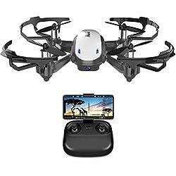 Potensic Drone con Cámara HD, Avión WiFi FPV, Cuadricóptero con Altitud Hold, Sensor de Gravedad, Modo sin Cabeza, Una Tecla de Despeque y Aterrizaje (Blanco)