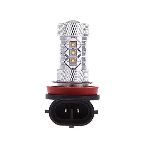 KKmoon Super Bright 80W H8 Osram 16 LED Car Light Fog Light Lamp Bulb 800-900Lm 12-30V