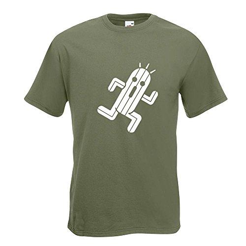 KIWISTAR - Zigtausend Stacheln T-Shirt in 15 verschiedenen Farben - Herren Funshirt bedruckt Design Sprüche Spruch Motive Oberteil Baumwolle Print Größe S M L XL XXL Olive