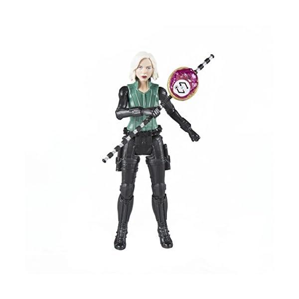 Marvel- Figura Infinity War, Black Widow con Gema y Accesorio (Hasbro E1411EU4) 2