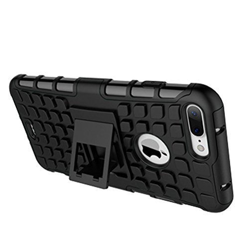 """iPhone 7 Plus Coque - WindCase Housse de Protection de Dual Layer d'Armure Lourde Étui avec Béquille Case pour iPhone 7 Plus 5.5"""" Vert Blanc"""
