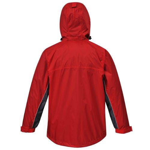 Cox Swain Funktions -/ Regenjacke Helki - 5.000mm Wassersäule / 3.000mm Atmungsaktivität, Colour: Red/Grey, Size: XS - 2