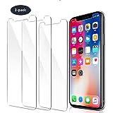 PhoneCare [3 Stück] Panzerglas Schutzfolie für iPhone XS/iPhone X Härtegrad Anti-Kratzen Panzerfolie 3D-Touch Anti-Fingerabdruck 5.8 Zoll