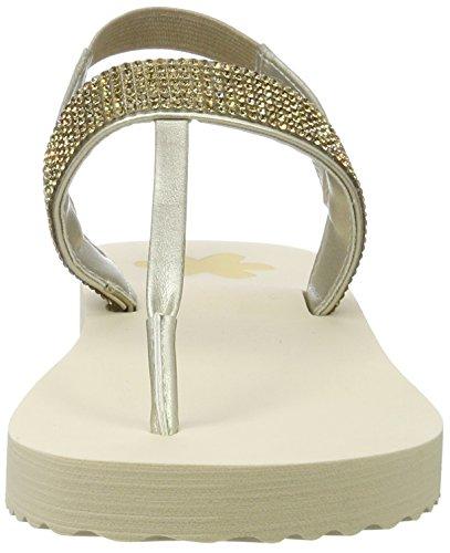 flip*flop Damen Slim Sandal Glam Zehentrenner Beige (sombrero)