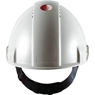 3M G30DUW Peltor Schutzhelm G3000D, ABS, Helm Innenausstattung mit Leder SchWeißband und Pinnlock Verschluss, belüftet, Weiß