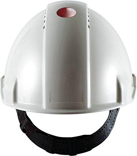 3M G30CUW Peltor Schutzhelm G3000C, ABS, Helm Innenausstattung mit Kunststoff SchWeißband  und Pinnlock Verschluss, belüftet, Weiß (Schutzhelm Mit Kinnriemen)