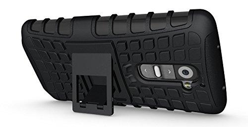 JKase Diablo Serie Tough Rugged Dual-Layer Schutzhülle mit Standfunktion für LG G2(Verizon Version nur. Nicht FÜR AT & T/Sprint/T-Mobile) Seidio Convert Holster