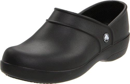 Crocs Neria Work, Damen Slipper Schwarz (Black)