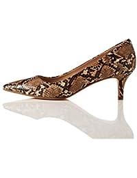 find. Point Toe Court Shoe Scarpe col Tacco Punta Chiusa, Braun Brown Snake), 38 EU