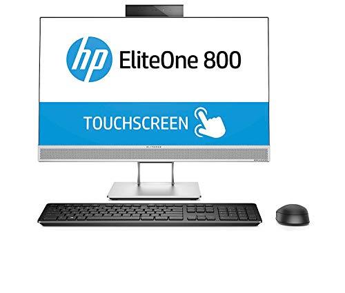 HP EliteOne 800 G4 - All in One - Ordenador de sobremesa profesional 23.8' (Intel Core i5-8500, 8GB RAM, 256GB SSD, Intel Graphics, Windows 10 Pro) Color Blanci, con Teclado QWERTY Español y Ratón