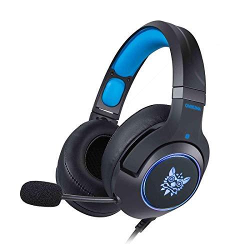 LYDB Gaming-Kopfhörer Bass Surround Over-The-Ear-Mikrofon mit Geräuschisolation LED-Licht-Headset für PC PS4, Xbox One (Farbe: Schwarz)