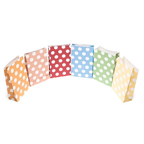 24 Bolsas de regalo coloridas y decorativas punteadas | Bolsas de ...