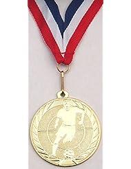 Especial 14x fútbol medalla con cinta (medalla de oro)