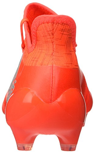 adidas X 16.1 Fg Leather, Chaussures de Football Homme Orange (Solar Red/Silver Metallic/Hi-Res Red)