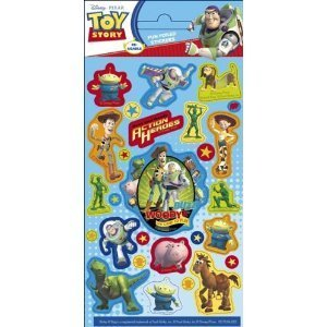Toy Story 3 - Fun Foiled Stickers (Reuseable) (Toy Story Sticker)