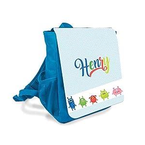 Kinder-rucksack für Jungen mit Namen u. Monster