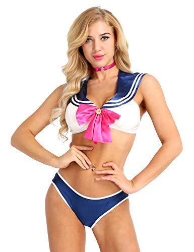 DPois Sexy Disfraz Escuela Mujer Sailor Moon Sexi