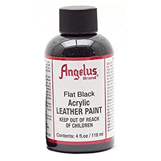 Angelus Acrylic 4 Ounce Paint (Flat Black)
