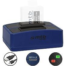 Cargador doble (USB) para cámara deportiva Qumox SJ5000(+), SJ5000X, SJ4000(+) / SJCam M10(+), X1000... - contiene cable micro USB