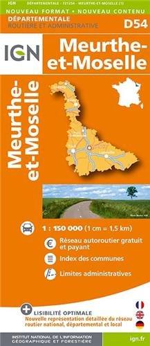 D54 MEURTHE-ET-MOSELLE 1/200.000