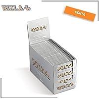 BOX 5000 CARTINE 100 PACCHETTI ASTUCCI LIBRETTI RIZLA CORTE SILVER GRIGE ARGENTO