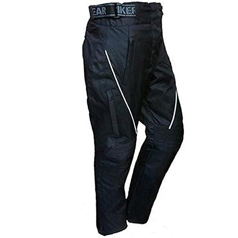 Jazz–Mujer térmica pantalones de moto impermeable–Protectores CE de–negro tamaño 50 negro