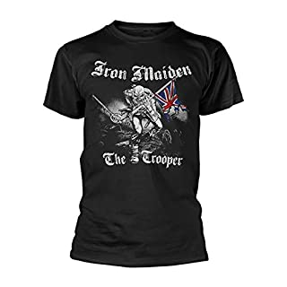 Rock Off - T-shirt Homme Iron Maiden Sketched Trooper - Noir (Black) - Medium