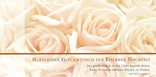 Hochwertige Glückwunschkarte zur Eisernen Hochzeit 65 Jahre