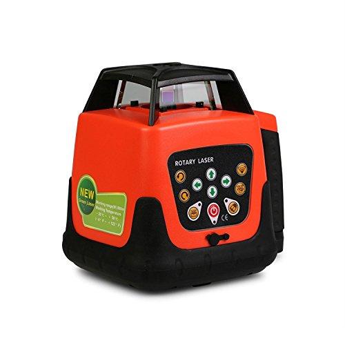 Autocompra Nivel láser Rotativo Nivel Láser Automático Laser Level Rayo Verde con Impermeable Construcción con Trípode y Mira de 5m (Rayo Verde con Trípode y Mira)