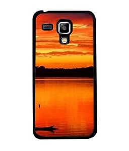 Fuson Designer Back Case Cover for Samsung Galaxy S Duos S7562 (River Sun Sunset Mountain Valley Surya )