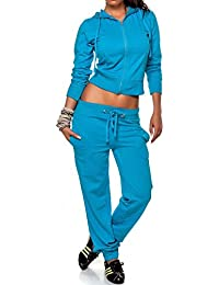 24brands CHICK REBELLE - Damen Trainingsanzug Sportanzug Sport Hose Jacke 2 teiler Fitnessbekleidung mit Kapuze - 2089