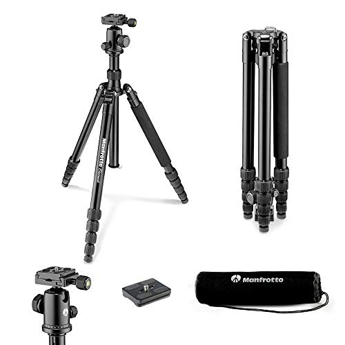 Manfrotto MKELEB5BK-BH Element Traveller Treppiede, Grande, Nero