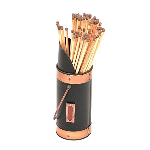 BH70 - Soporte chimenea metal cerillas seguridad