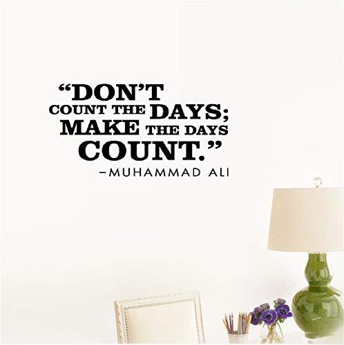 lettre un sticker mural Ne pas compter les jours; Faire les jours compter Muhammad Ali Inspirational for Bedroom Living Room