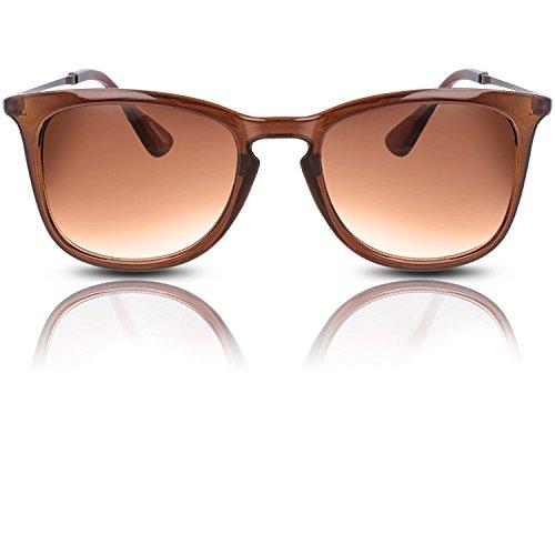 Sonnenbrille Wayfarer im trendigen Retro Vintage Design UV 400 Schutz für Damen