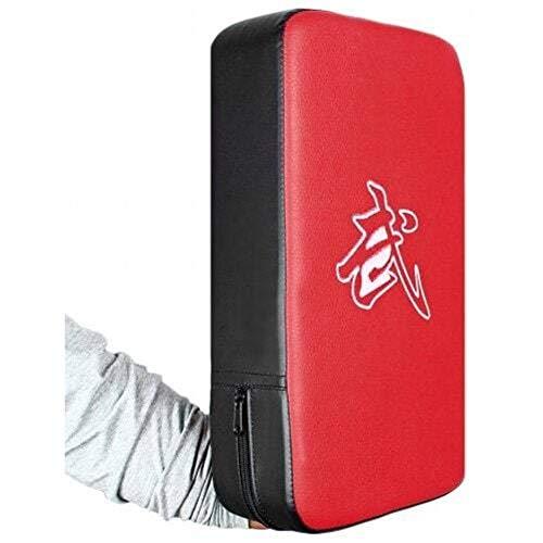 Yiqiane Boxing Ziel Taekwondo Kick Pads Boxen Karate Pad PU Leder Muay Thai Kampfkunst Kickboxen Fausthandschuhe Boxsack Kicking Shield Training für Männer (Color : Red+Black) -