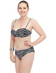AMYMGLL Mme grand bikini taille de l'environnement d'engrais de haute élastique pour augmenter l'Europe et le maillot de bain partagée États-Unis séchage rapide